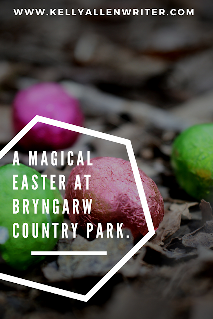 Pin with colourful eggs on the muddy ground and title.