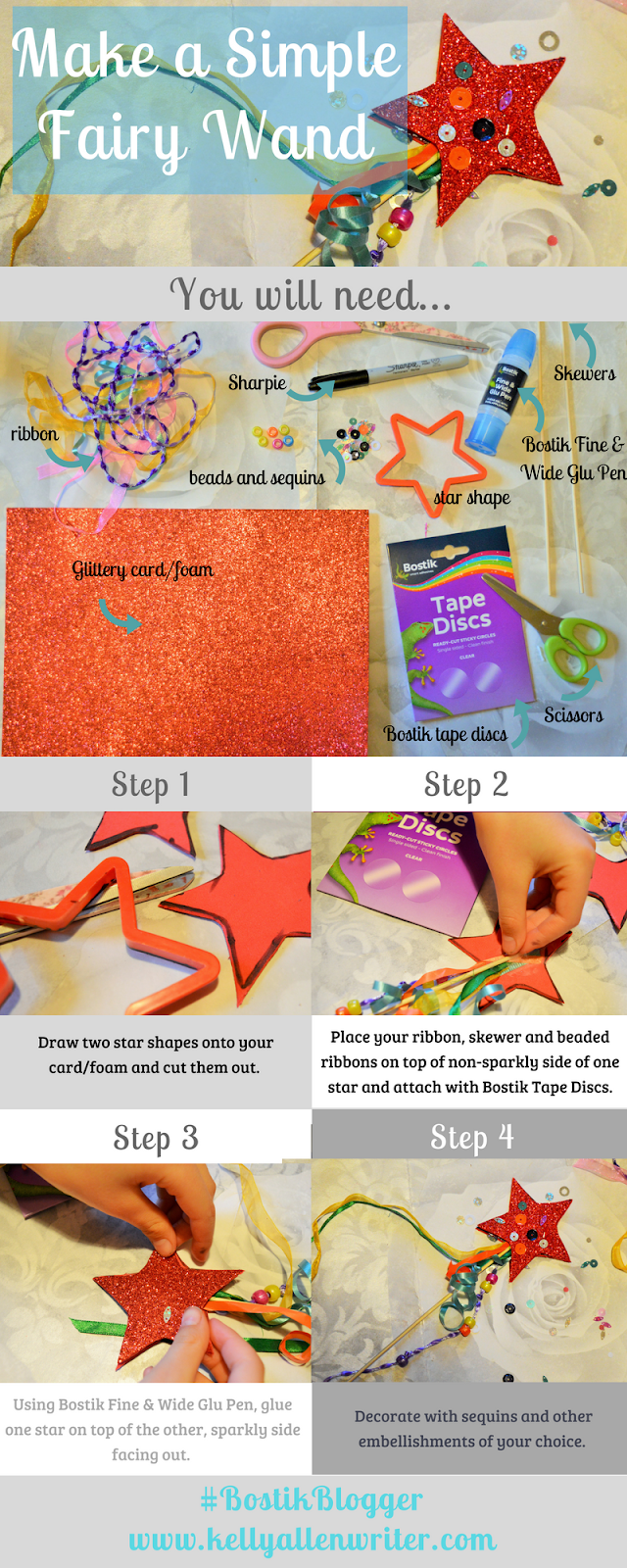 Make a Magical Fairy Wand With Bostik! #BostikBlogger