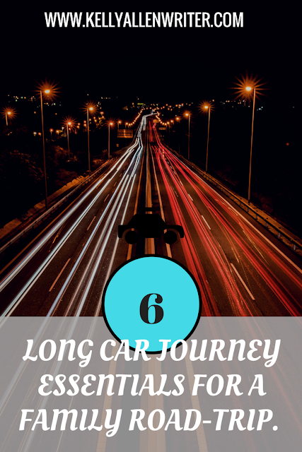 pinterest pin with road ahead at night and title.