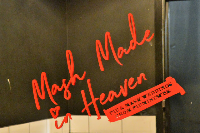 a quote on a mirror 'mash made in heaven'