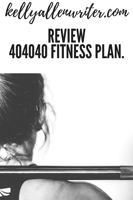 Back view of a lady's neck and head with title 404040 fitness review getting fit in your 40s