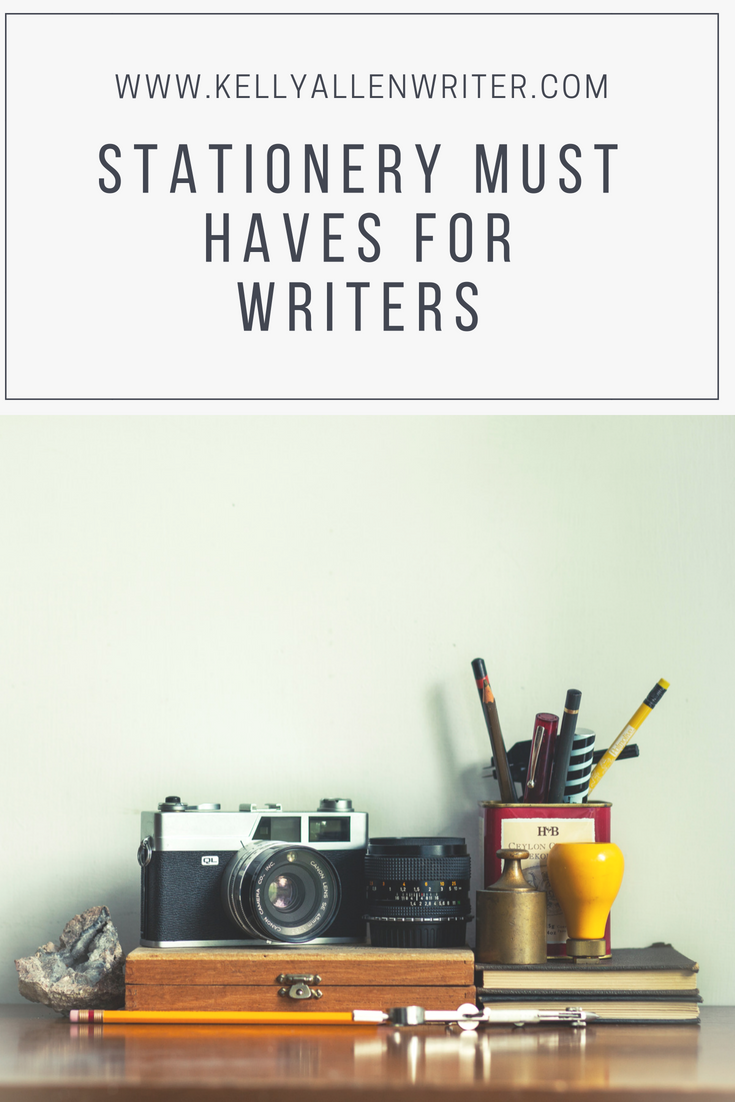 Stationery Must Haves for Writers Pin for Pinterest.