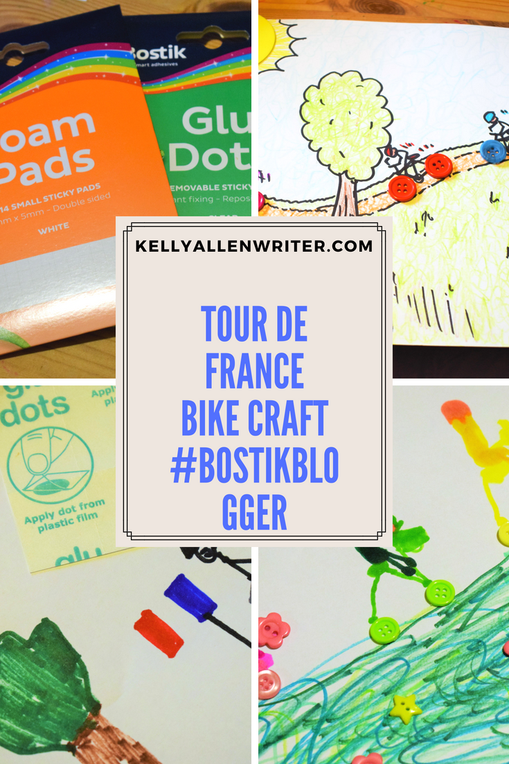 Pinterest pin for tour de france cycling craft #bostikbloggers