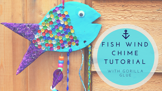 Make a Rainbow Fish Wind Chime with Gorilla Glue #CraftCompetition