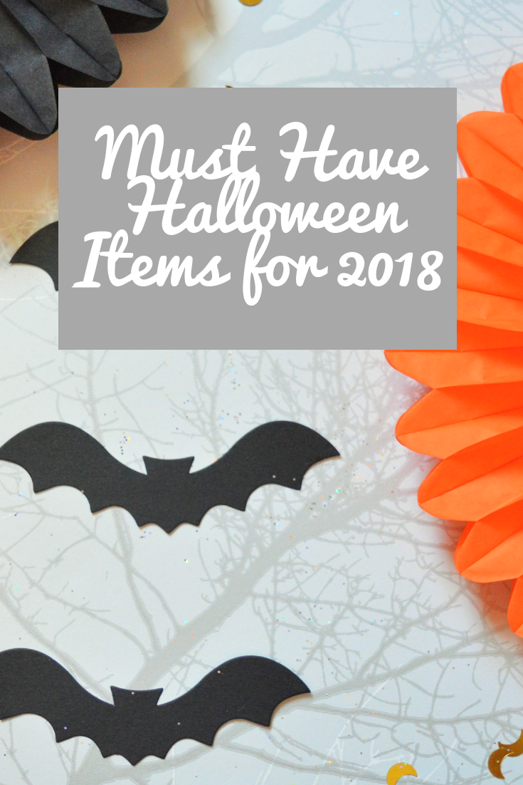 must have Halloween items for 2018 pinterest pin