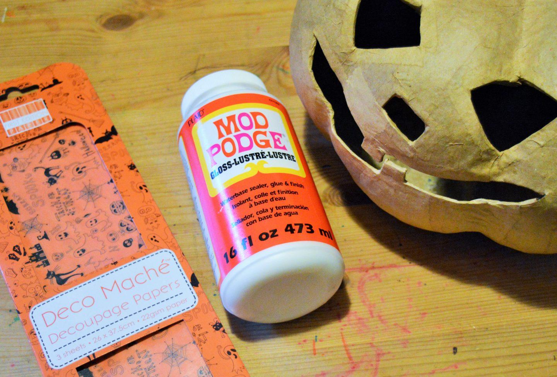 Decoupage Halloween Pumpkin From Hobbycraft