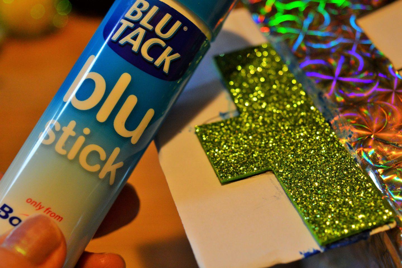 Make a Sweetie Robot Craft Blu Stick and green bolts