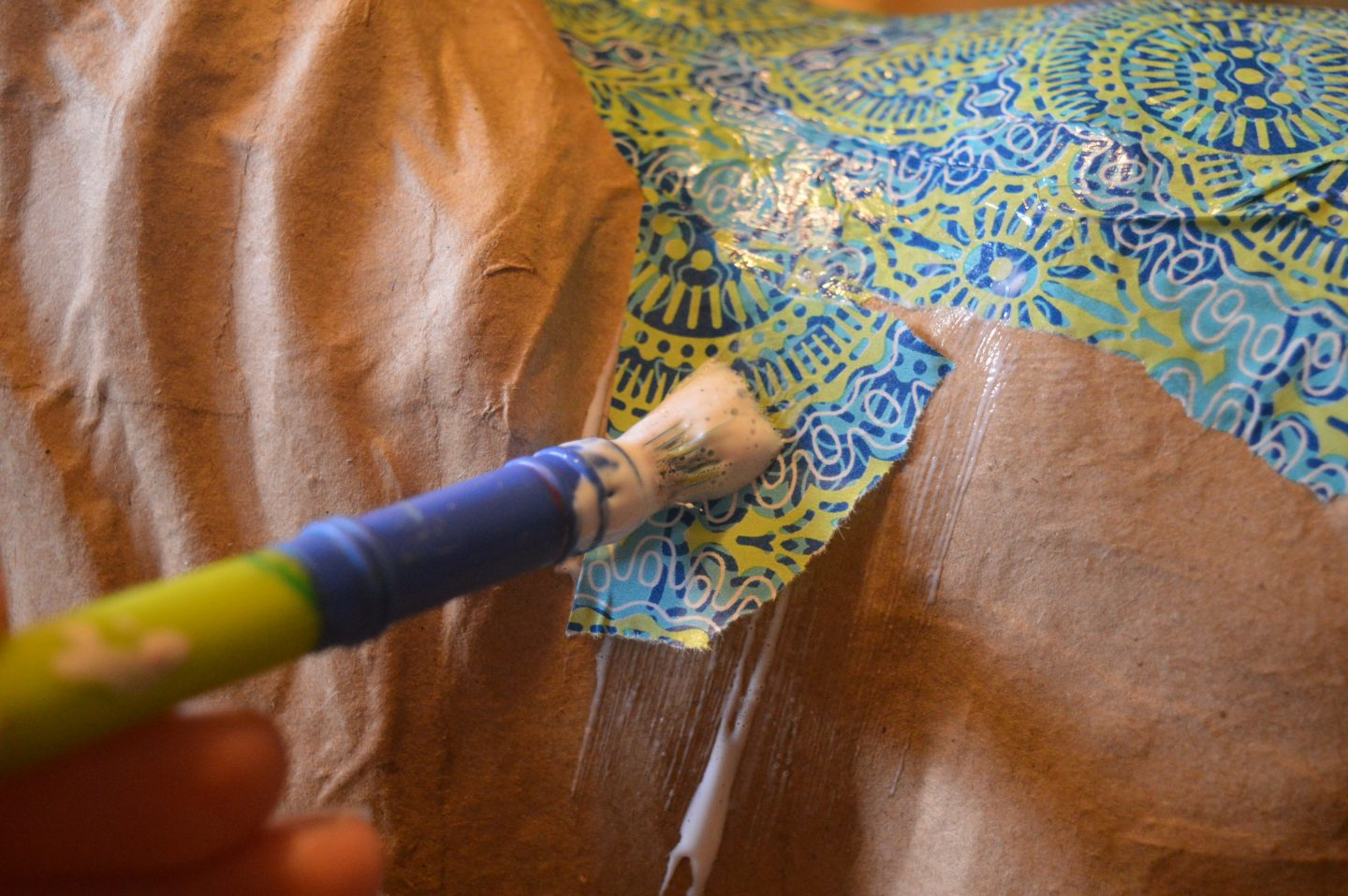 Painting decoupage onto unicorn