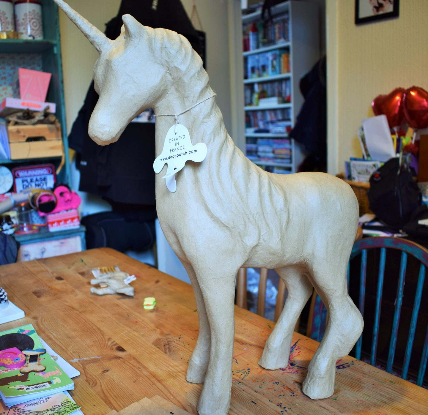 Decoupage Unicorn before any work has commenced