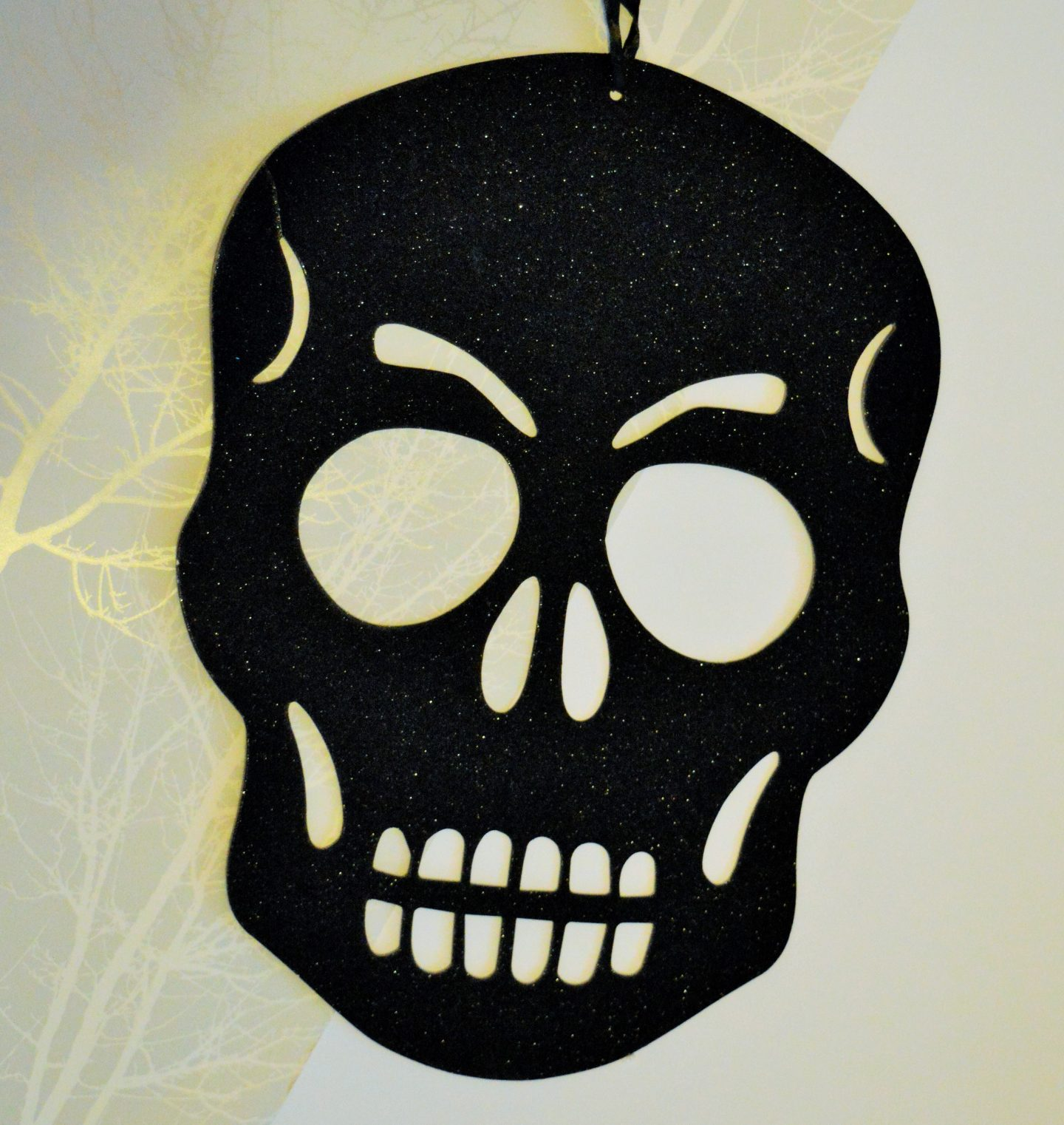 Halloween decorations from Wilko black skull