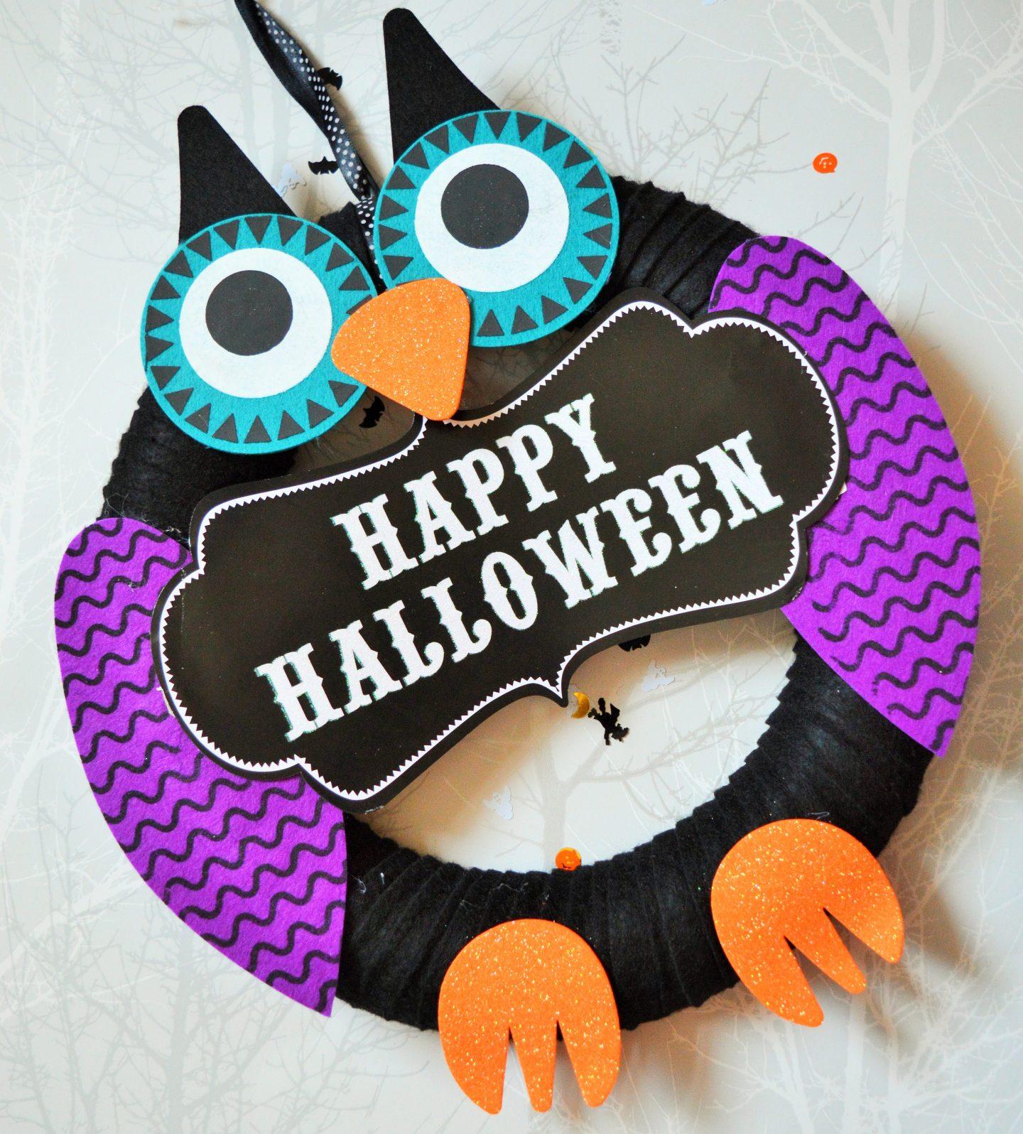 Halloween decorations from Wilko owl wreath