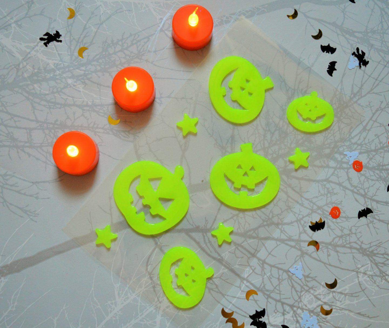 Halloween decorations from Wilko glow in the dark pumpkins
