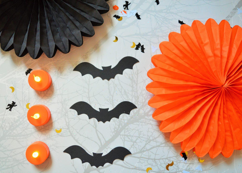 Halloween decorations from Wilko bat decorations