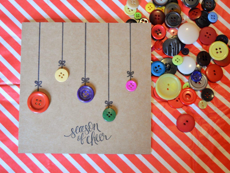 Create a Button Bauble Card #BostikBlogger