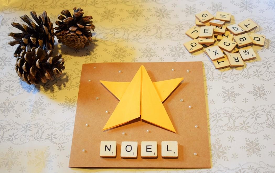 Origami Star Christmas Card Tutorial #BostikBlogger